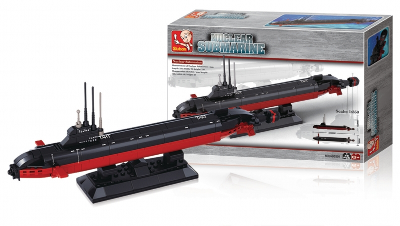 Stavebnice Sluban Aircraft Carrier Nukleární ponorka, 193 dílků M38-B0391