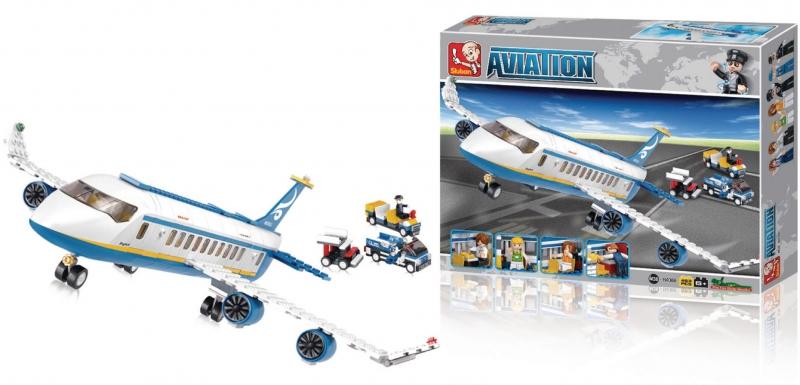 Stavebnice Sluban Aviation Dopravní letadlo, 463 dílků M38-B0366