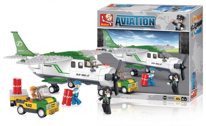 Stavebnice Sluban Aviation Přepravní letadlo, 251 dílků