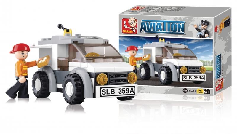 Stavebnice Sluban Aviation Doručovací vůz, 75 dílků M38-B0359