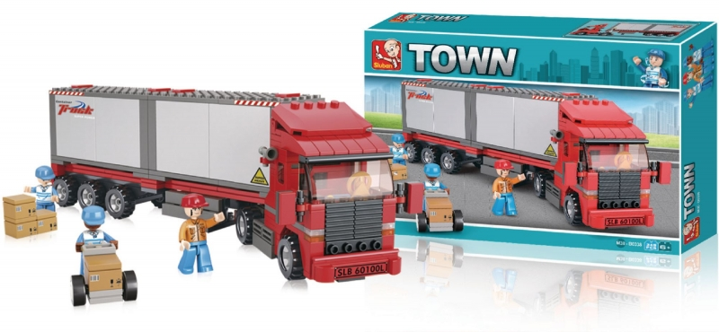 Stavebnice Sluban Town Kamion, 345 dílků M38-B0338