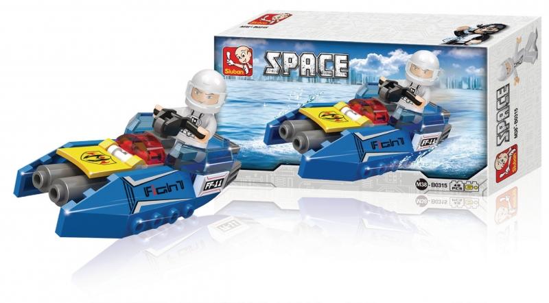 Stavebnice Sluban Space Vesmírná loď, 48 dílků
