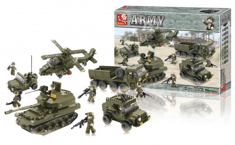 Stavebnice Sluban Army sada, 1001 dílků M38-B0311