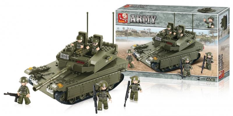 Stavebnice Sluban Army Tank Merkava, 344 dílků