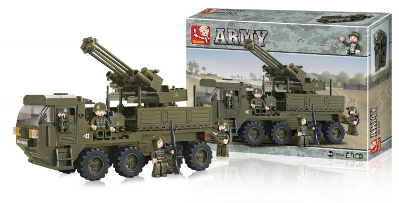 Stavebnice Sluban Army Protiletecká zásahová jednotka, 311 dílků