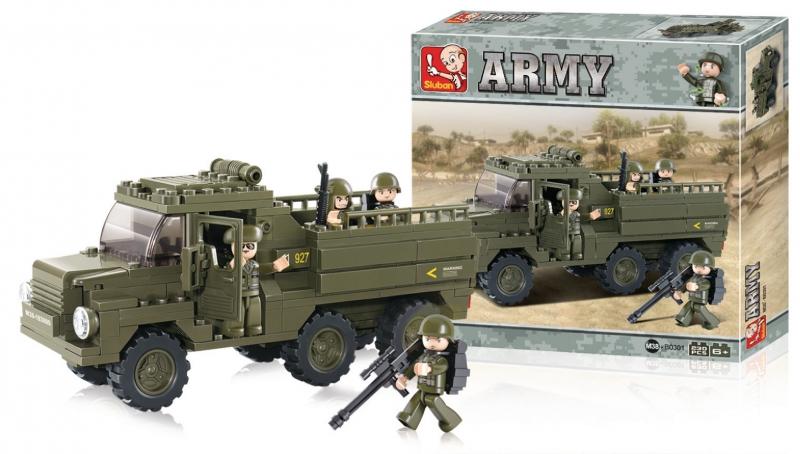 Stavebnice Sluban Army Vozidlo pro transport vojáků, 229 dílků