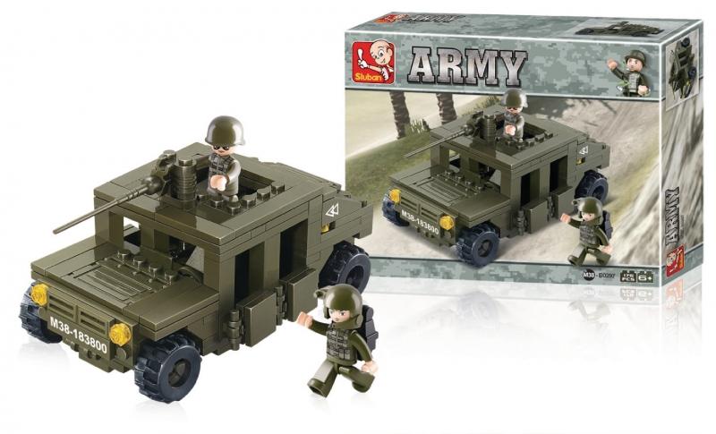 Stavebnice Sluban Army Obrněné vozidlo, 175 dílků