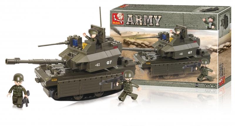 Stavebnice Sluban Army Tank M1A2 Abrams, 219 dílků M38-B0287