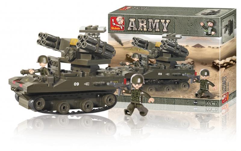 Stavebnice Sluban Army Tank TOR-M1, 212 dílků M38-B0283