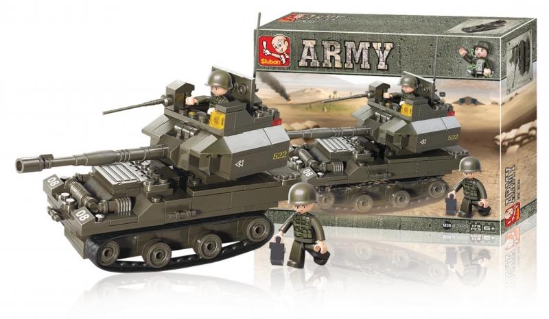 Stavebnice Sluban Army Tank Leopard, 178 dílků M38-B0282