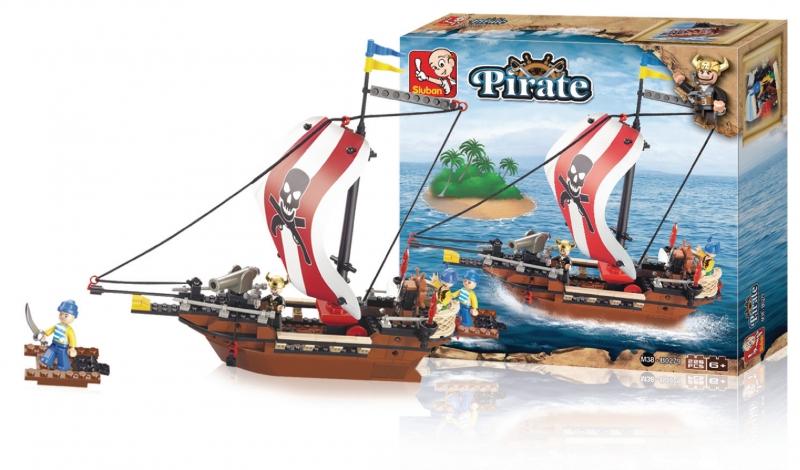 Stavebnice Sluban Pirate Pirátská loď, 226 dílků M38-B0279