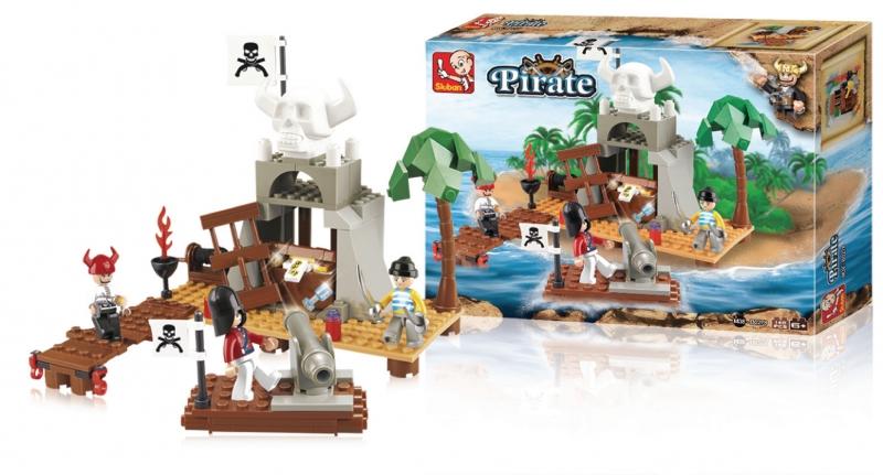 Stavebnice Sluban Pirate Ostrov pokladů, 142 dílků