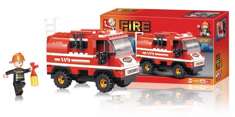 Stavebnice Sluban Fire Malý hasičský vůz, 133 dílků