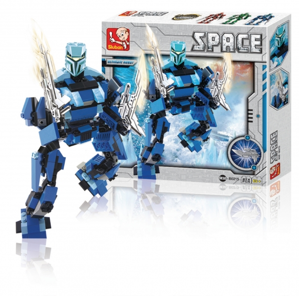 Stavebnice Sluban Space Ultimate Robot Poseidon, 274 dílků M38-B0215