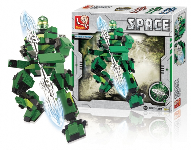 Stavebnice Sluban Space Ultimate Robot Ares, 264 dílků M38-B0213