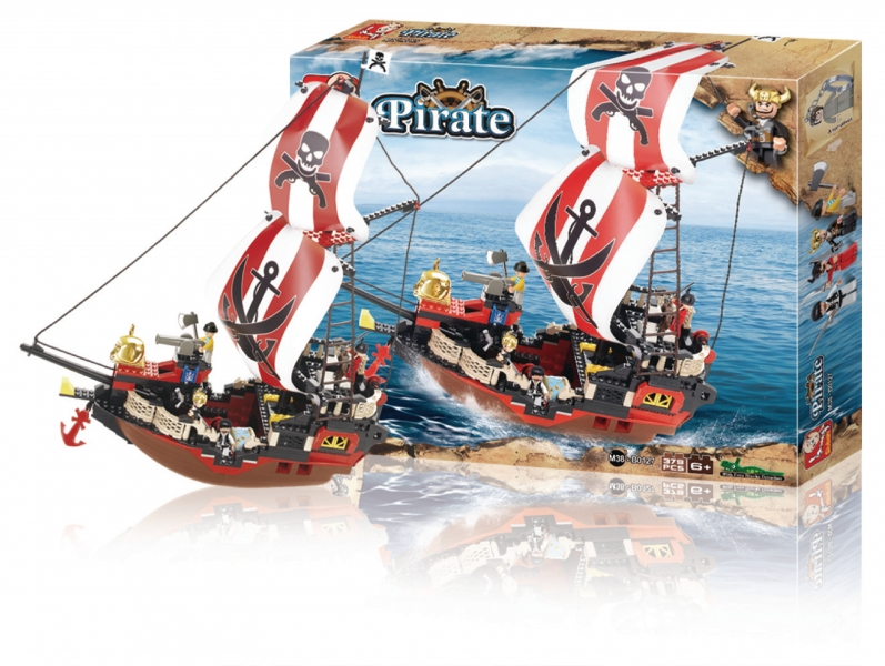 Stavebnice Sluban Pirate Koráb Pirátská pomsta, 379 dílků M38-B0127