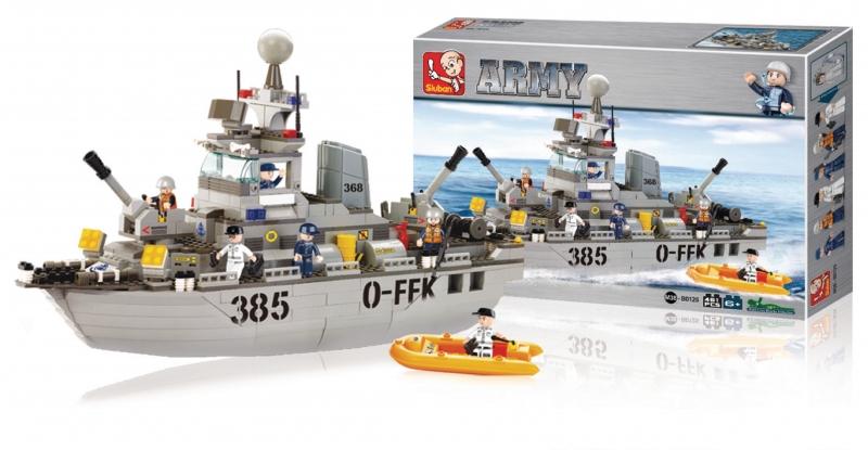 Building Blocks Army Torpédoborec 385 0-FFK, 461 dílků M38-B0125