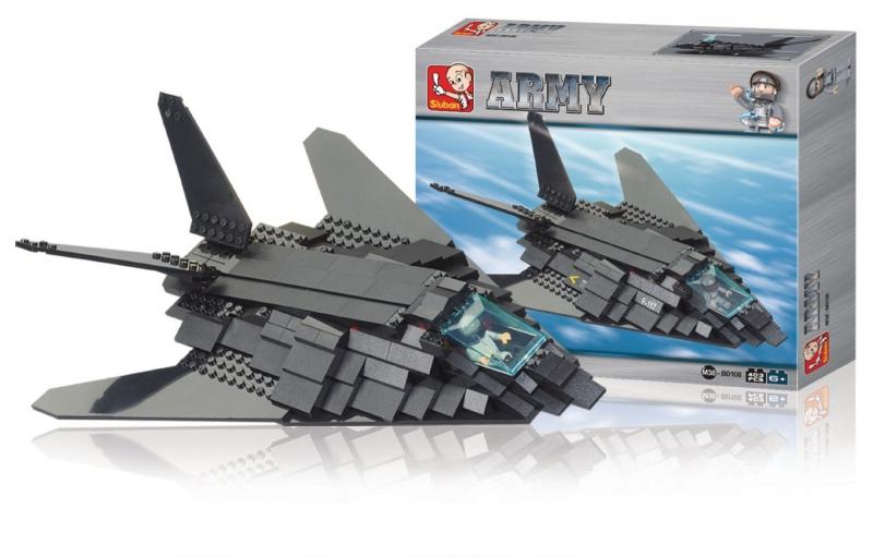 Stavebnice Sluban Army Bombardér F 117 Nighthawk, 209 dílků