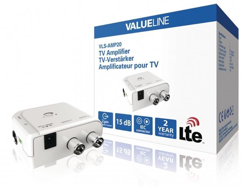 Televizní zesilovač Valueline VLS-AMP20 se 2 výstupy