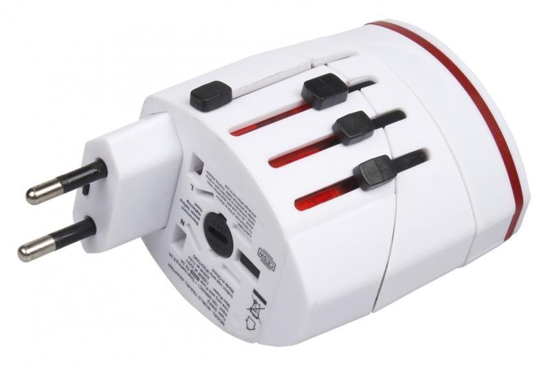 Univerzální cestovní adaptér s USB NT-390 LINEO pro 150 zemí světa 8586016722171
