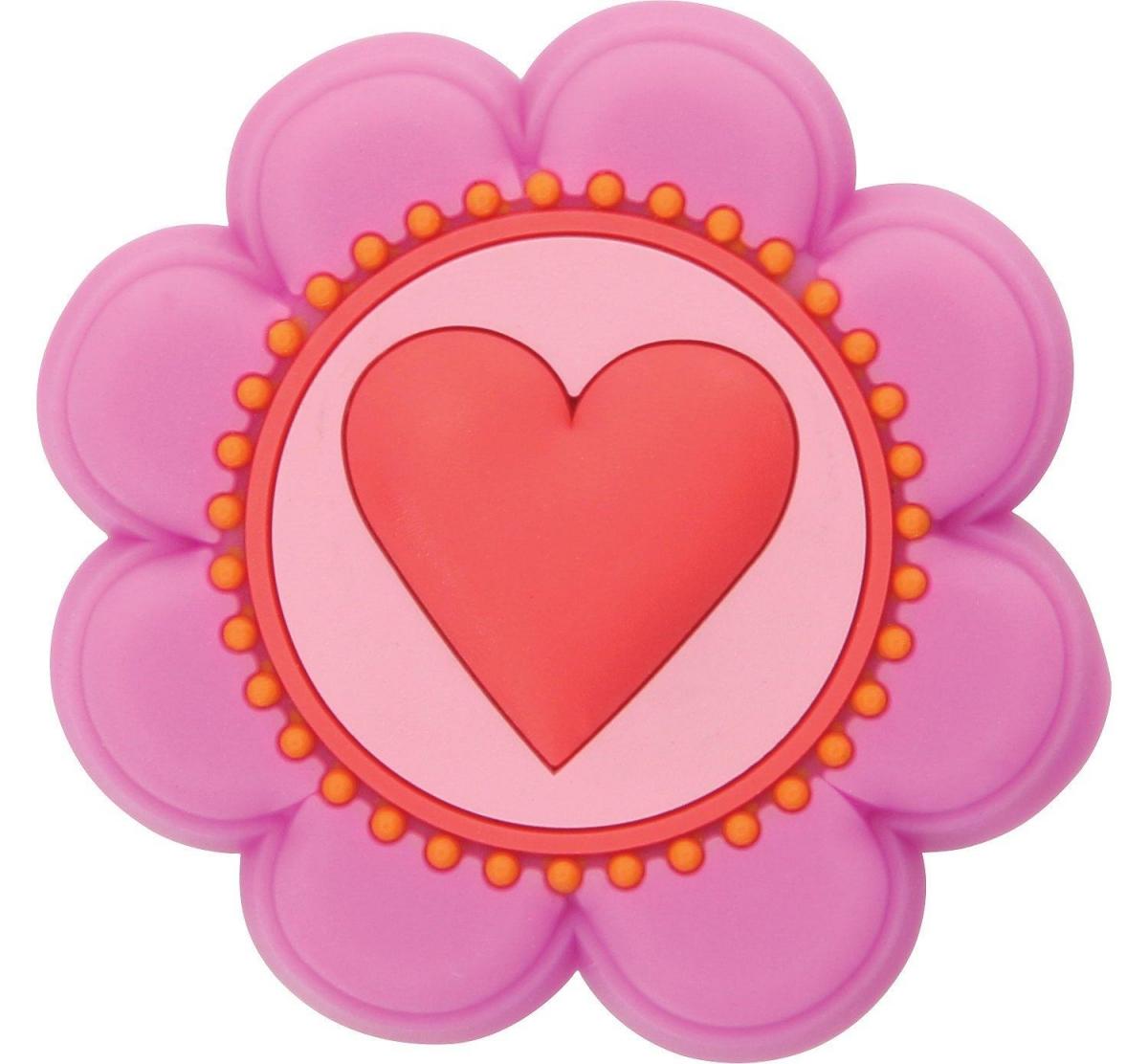Jibbitz odznáček na obuv Crocs Květina se srdcem