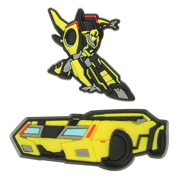 Jibbitz sada odznáčků na obuv Crocs Transformers Bumblebee 2 Pack