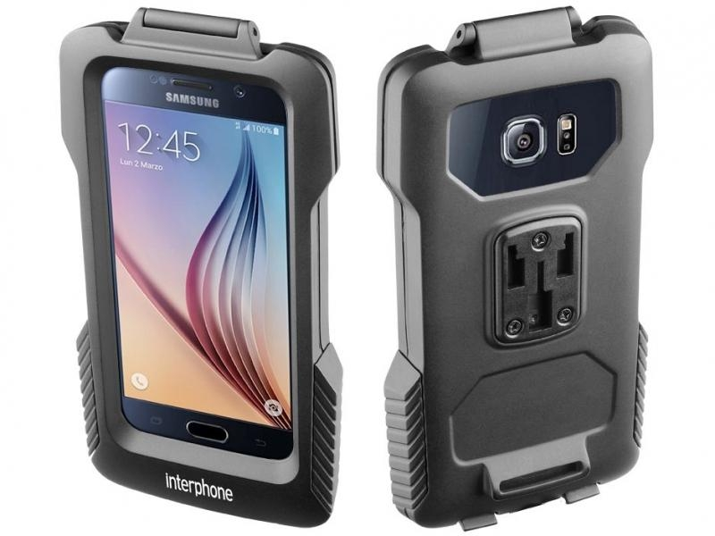 Voděodolné pouzdro Interphone Pro Case na motorku pro Samsung Galaxy S6, černé SMGALAXYS6