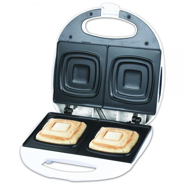 Sendvičovač Orava ST-105 A pro přípravu čtvercových toastů - bílý