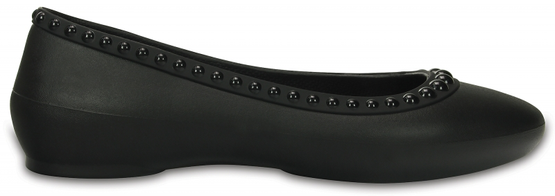 Crocs Lina Luxe Flat - Black, W10 (41-42)