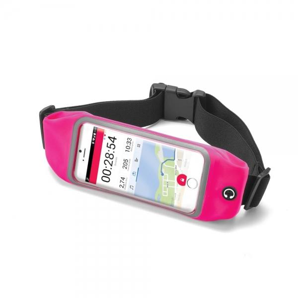 """Sportovní neoprénové pouzdro Celly RunBelt View, pro telefony do 5.5"""", - růžové RUNBVIEWXXLPK"""