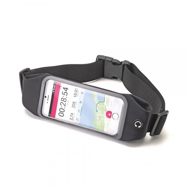 """Sportovní neoprénové pouzdro Celly RunBelt View, pro telefony do 5.5"""", - černé RUNBVIEWXXLBK"""