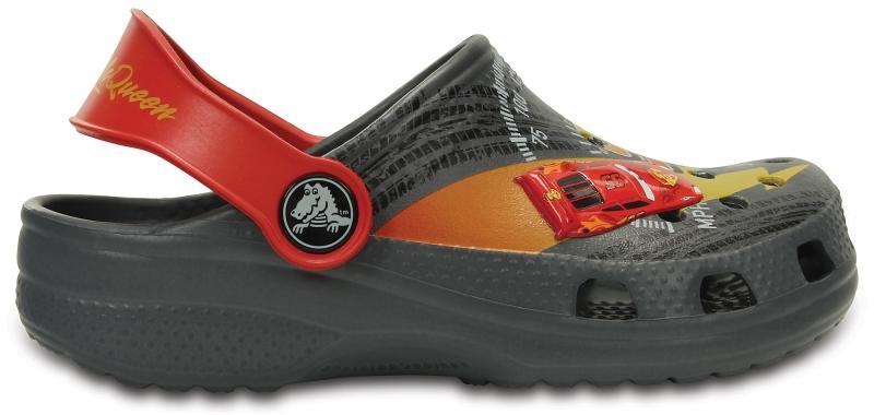 Crocs Classic McQueen Clog - Charcoal/True Red, J1 (32-33)