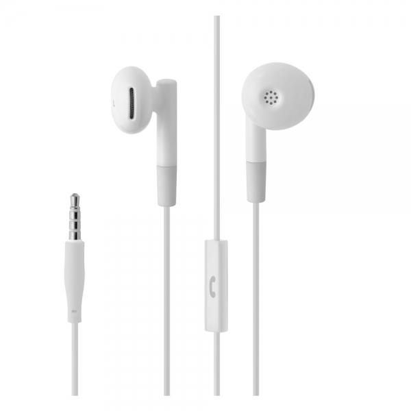 Pecková sluchátka FIXED EGG2 s mikrofonem a organizérem, - bílá FIXM-EGG2-WH