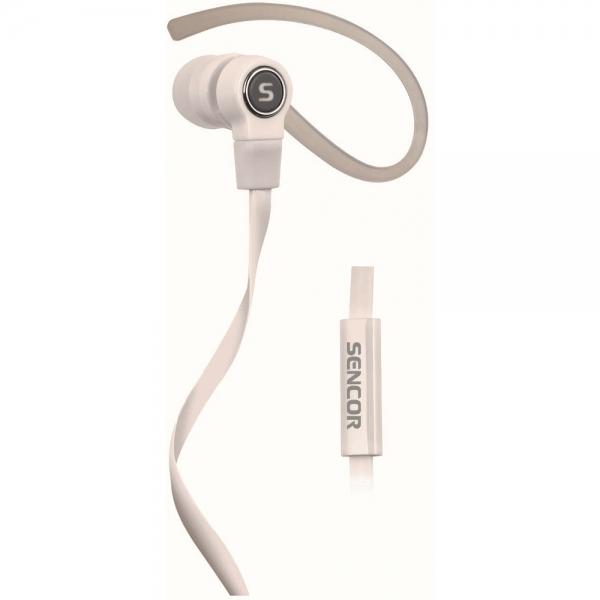 Sportovní sluchátka Sencor SEP 189 MIC - bílá