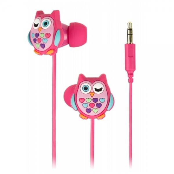 Dětská In-Ear sluchátka My Doodles Owl Olivia, růžová DDOWLBUD
