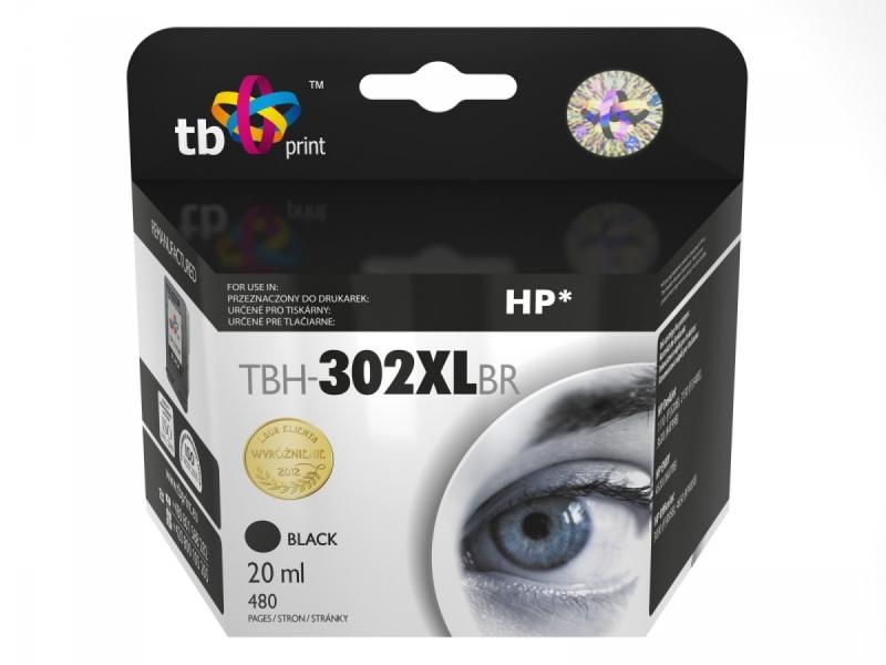 Černá inkoustová kazeta TB kompatibilní s HP 302XL (HP302XL, HP-302 XL, F6U68AE) - Alternativní TBH-302XLBR