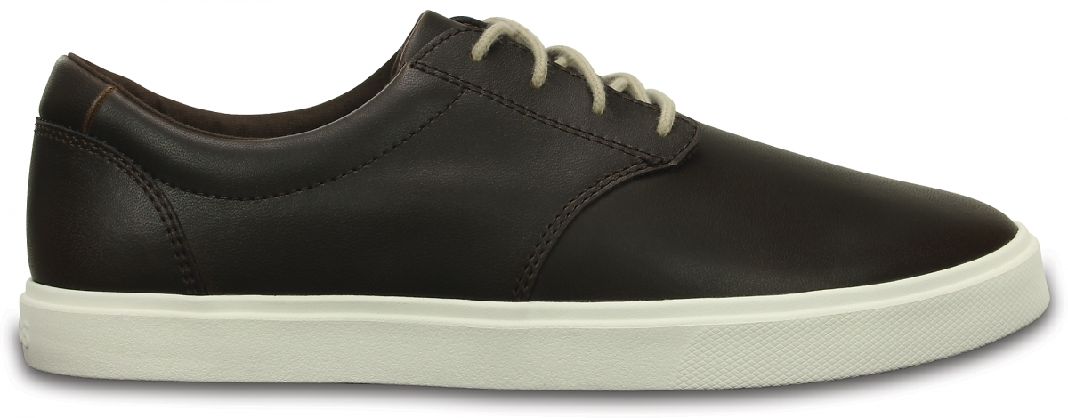 Crocs CitiLane Leather Lace-up - Espresso/White, M11 (44-45)