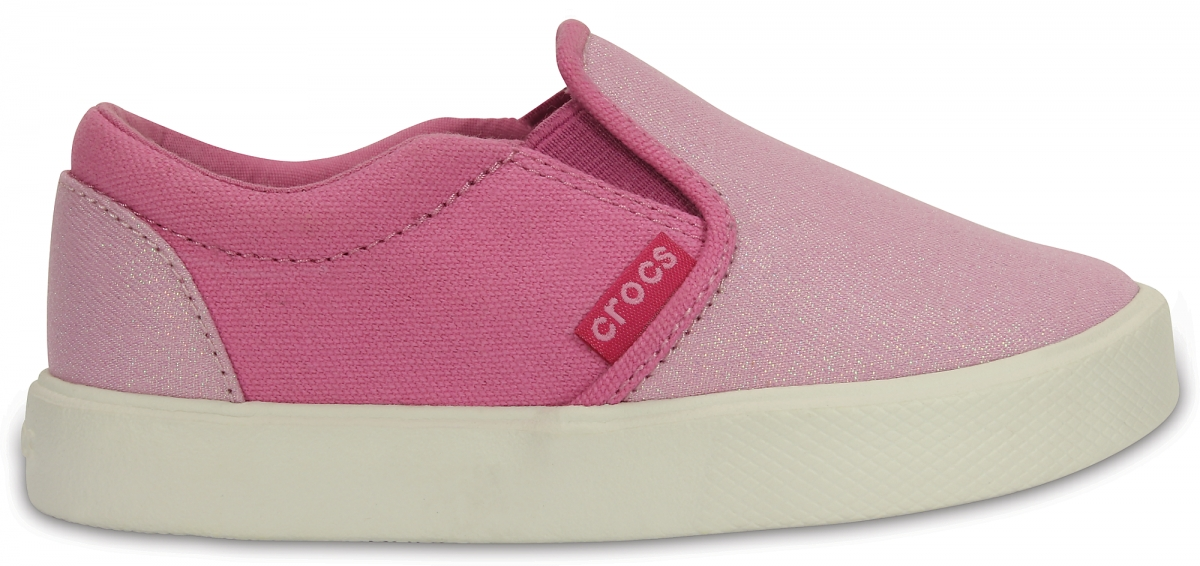 Crocs CitiLane Slip-on Sneaker Kids - Carnation/Party Pink, C10 (27-28)