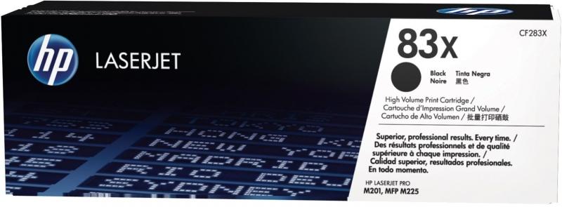 Černá tonerová kazeta HP 83X (CF283X) pro LaserJet Pro MFP M125nw - Originální CF283X