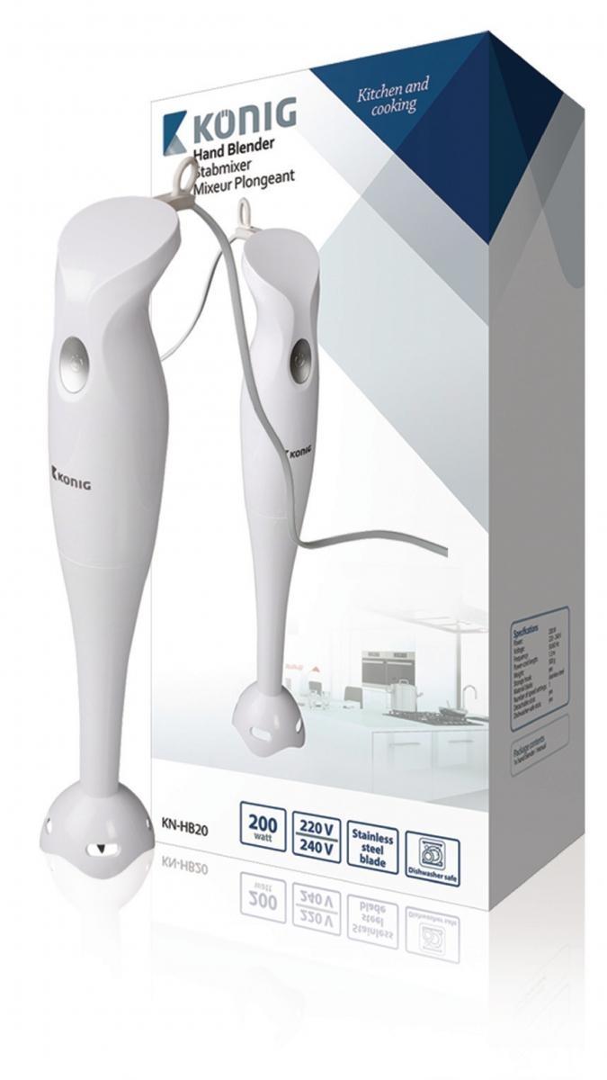 Ruční mixér König KN-HB20, 200 W, bílý