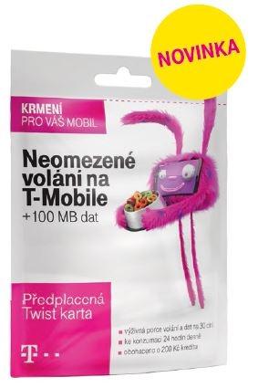 T-Mobile Twist V síti 200Kč kredit 700 600