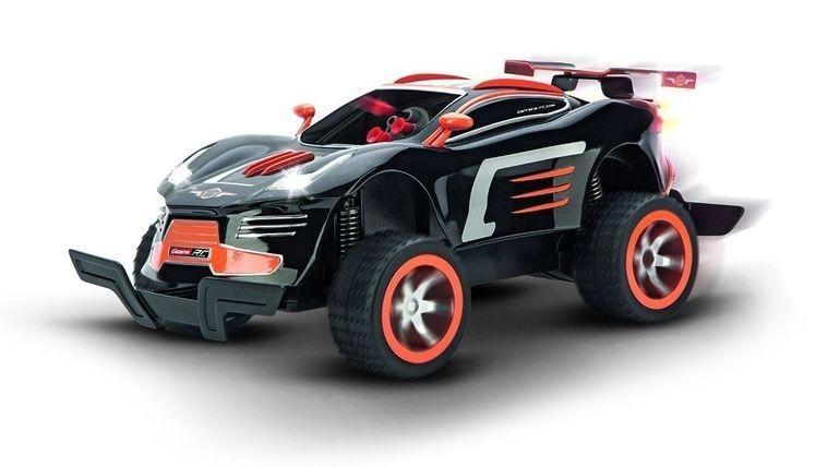 R/C auto Carrera Agent Black Pursuit (1:16) s kulometem