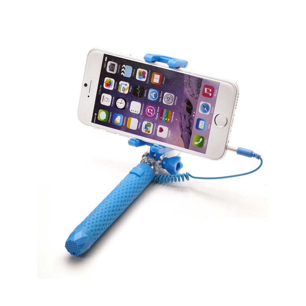 Selfie stick Celly Mini Selfie, se spouští, - modrá MINISELFIELB