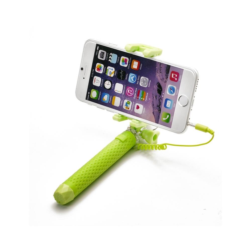 Selfie stick Celly Mini Selfie, se spouští, - zelená MINISELFIEGN