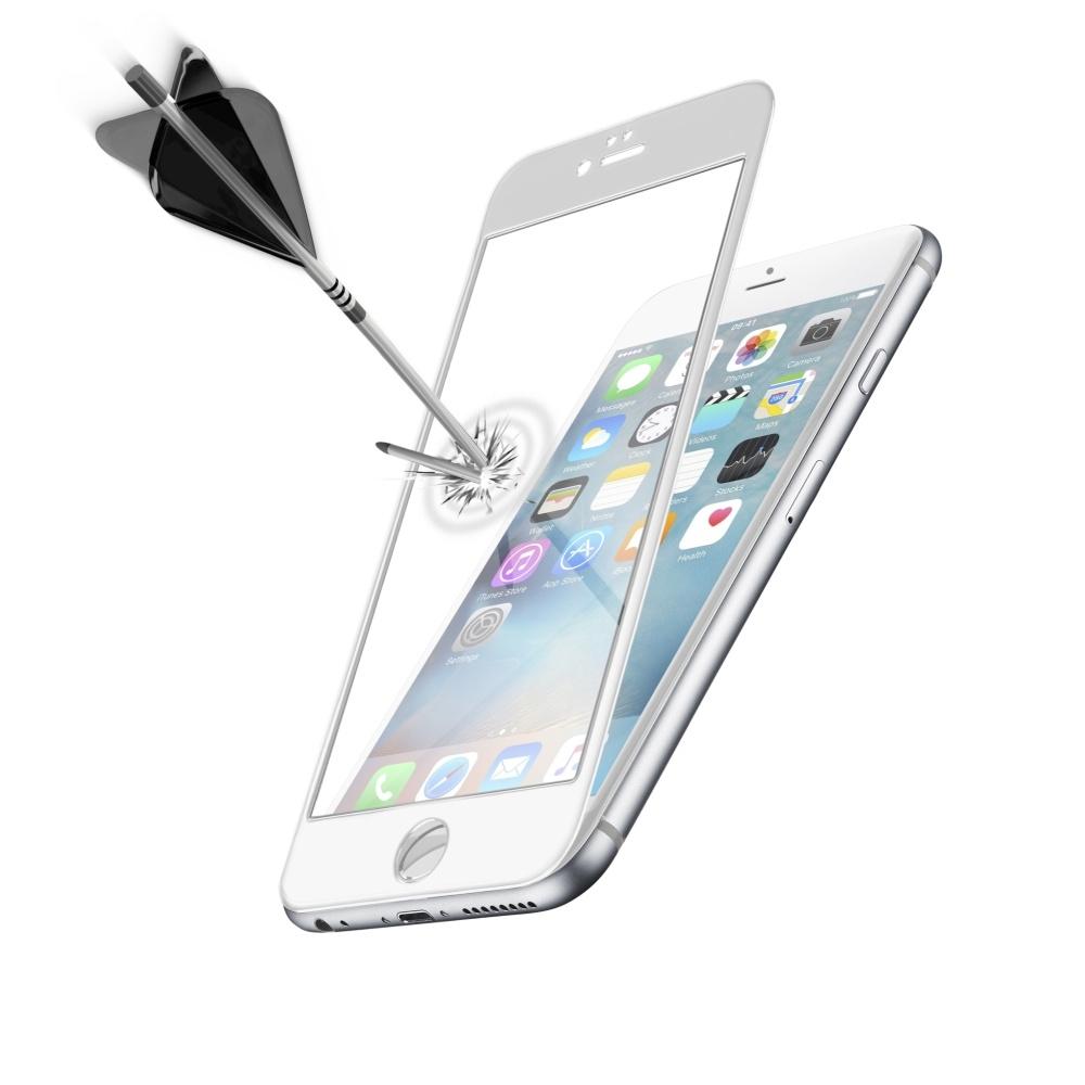 Ochranné tvrzené sklo CellularLine Capsule pro Apple iPhone 6 Plus, bílé TEMPGCAPIPH655SW
