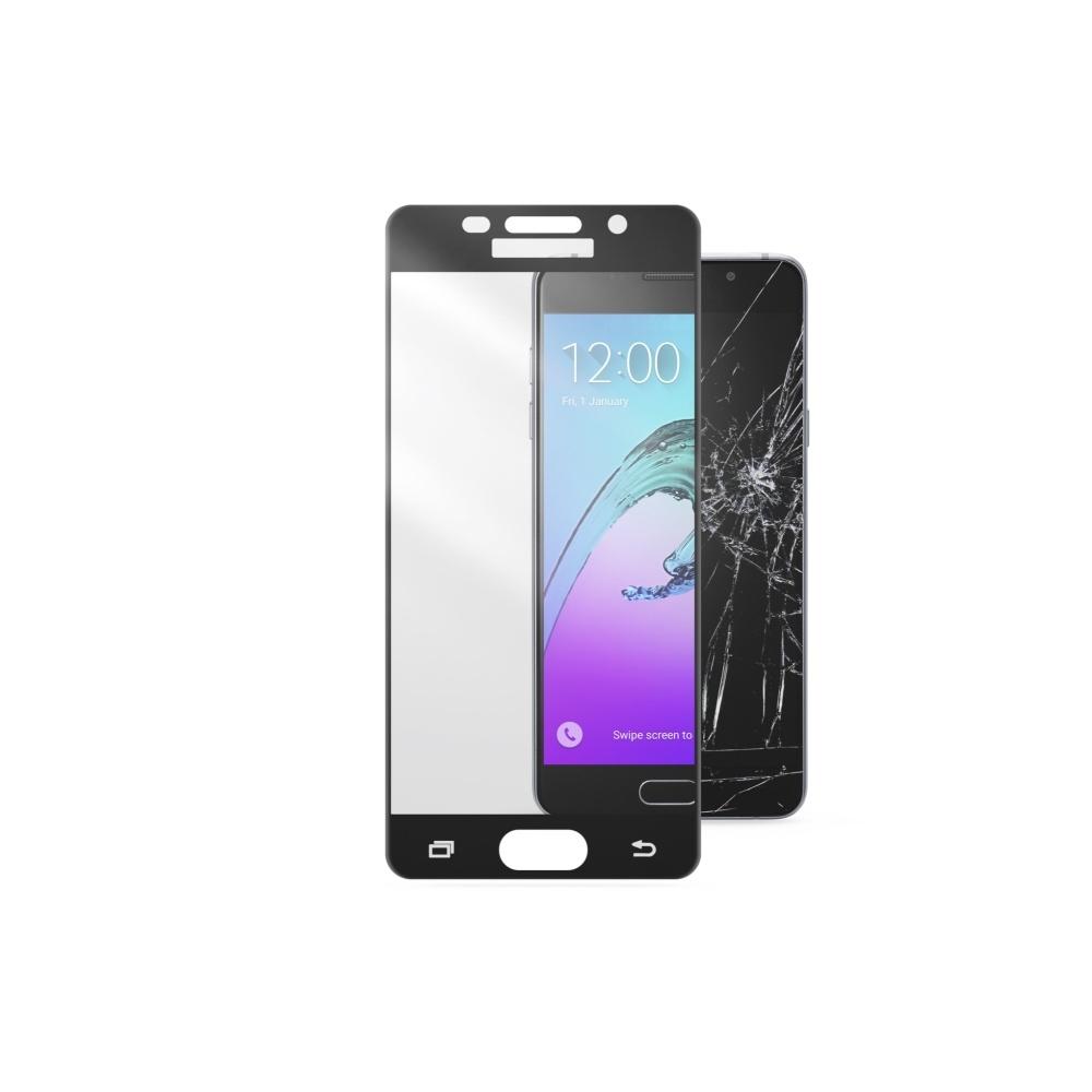 Ochranné tvrzené sklo CellularLine Capsule pro Samsung Galaxy A3 (2016), černé TEMPGCABGALA316K