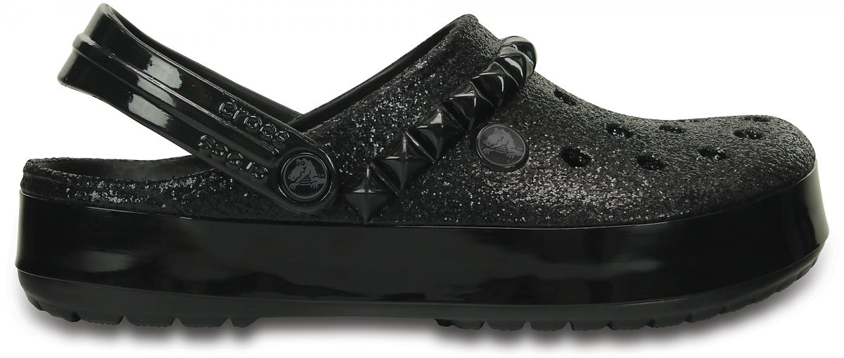 Crocs Crocband Studded Clog - Black, M5/W7 (37-38)