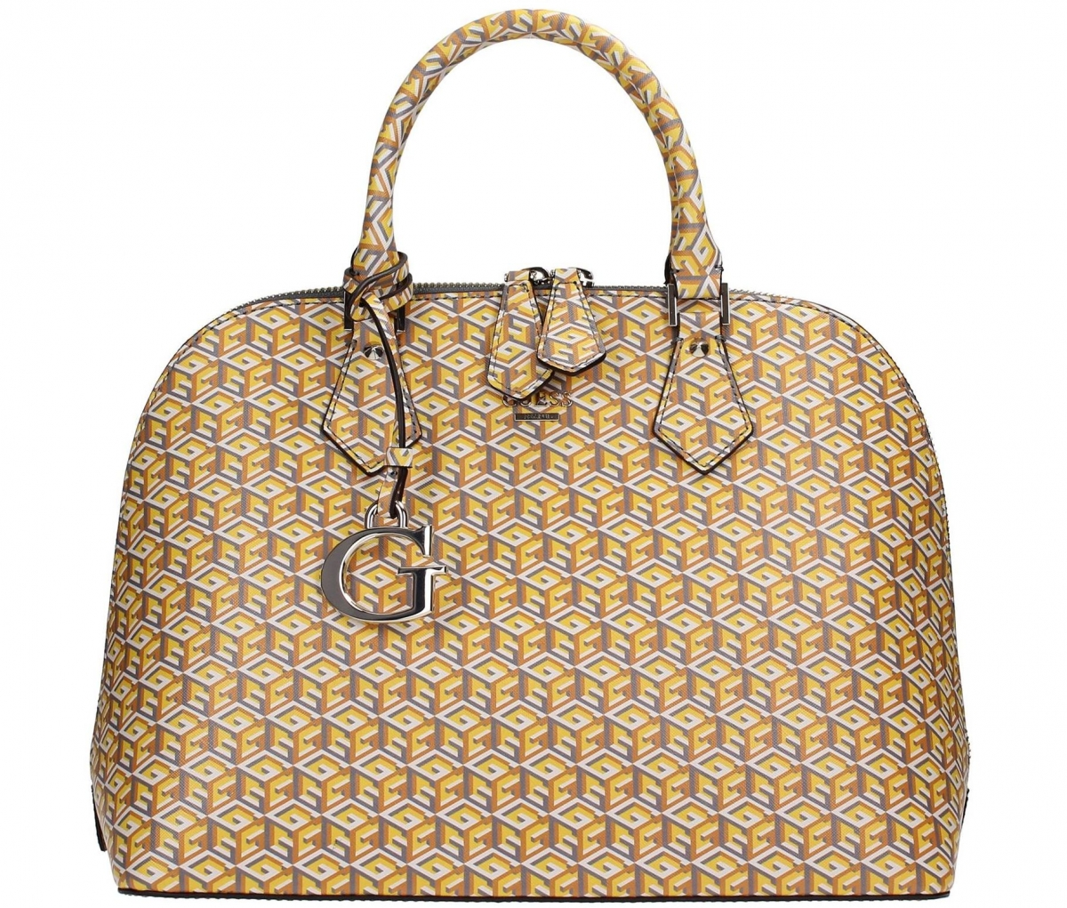 Guess G Cube Satchel Bag Sun