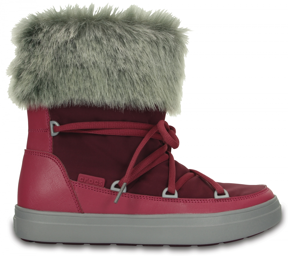 Crocs LodgePoint Lace Boot Nylon - Pomegranate, Pomegranate, W7 (37-38), W7 (37-38)