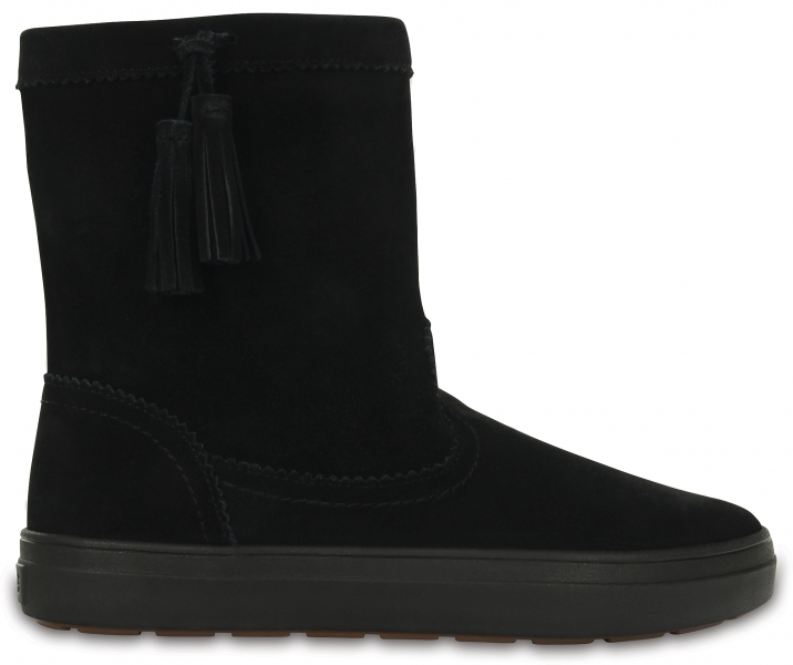 Crocs LodgePoint Suede Pull-On Boot - Black, W11 (42-43)